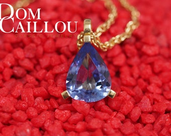 Tanzanite pendant 10.38 ct 750 (18ct) Gold communications