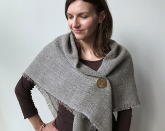 Handwoven Wool Scarf, Keffiyeh, Shemagh, Shawl