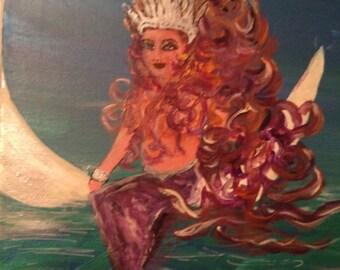 Calypso Mermaid Queen and her Moon