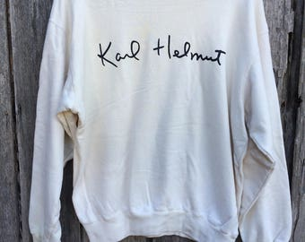 Rare karl helmut spell out sweatshirt