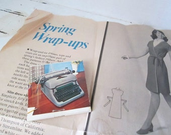 Vintage Mid Century Modern Matchbook Mending Kit, Vintage Typewriter Advertising
