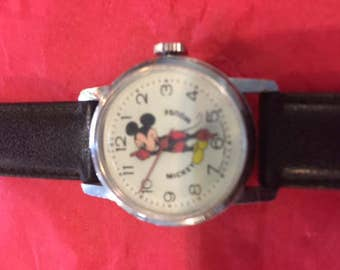 Mickey Mouse wind-up watch