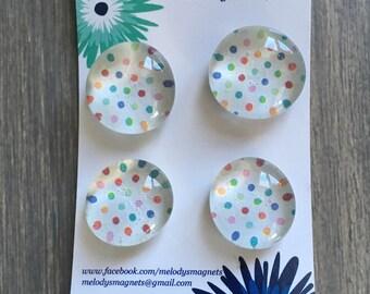 Rainbow Dots Magnets