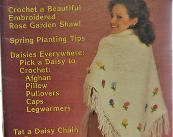 1983 April Edition THE WORKBASKET and Home Arts Magazine..crochet, knit, tat, sew, food, garden