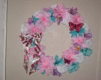 Spring Silk Flower Wreath Home Decor Summer