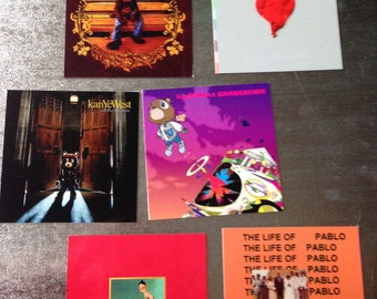 Kanye West MAGNETS discography hip hop rap gifts collectible VINYL