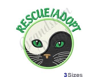 Rescue/Adopt Cat - Machine Embroidery Design