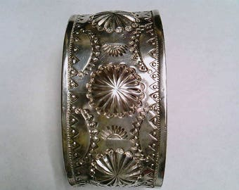 Vintage Sterling Silver One of a Kind Cuff Bracelet
