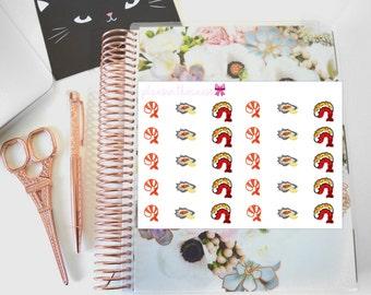Seafood Lover (Shrimp, Lobster, Oyster) Hand Drawn Erin Condren Planner Stickers