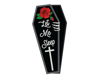 "Let Me Sleep Pin: 1.5""  Soft Enamel Lapel Pin"