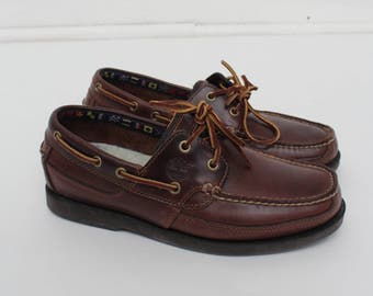 Vintage Brown Timberland Deck Shoes Loafers