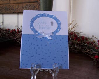 Boy Baptism Card