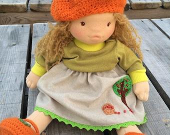 Maria, Waldorf doll, Soft Sculpture Doll, Handmade Doll, Cloth Doll, Baby Doll, Organic Doll, Gift for girl, Waldorf, Girl Doll