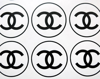 Set of 6 Chanel logo vinyl decal