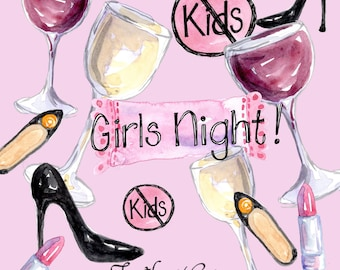 Items similar to Clip Art, Clipart, Girls Night Out , INSTANT ...