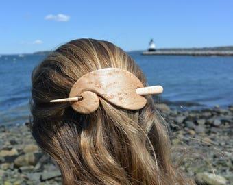 Birdseye Maple Hair Stick, Wooden Barrette