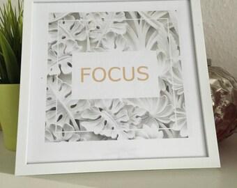 Printart / decoration / focus frame
