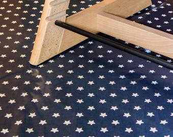 High Chair Mat - splash mat, baby weaning mat, mat for under high chair, messy play mat.  Stylish, wipe clean and durable