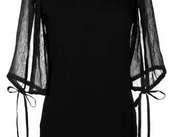 Women trend fashion black extravaganza  top