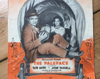 """The Paleface - """"Buttons and Bows"""" - sheet music (Bob Hope / Jane Russell)"""