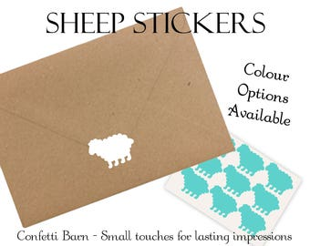 Sheep Stickers - Baby Shower - Removable Vinyl - Party Invitations - Envelope Sealing Stickers - Planner Stickers #48