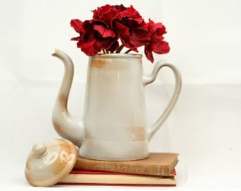 French vintage coffee jug – stoneware – rustic – elegant - rustic - French kitchen - country kitchen