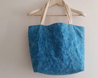 shoulder tote bag, shoulder bag, shoulder bag, tote bag, shopping bag, bag, beach bag, waxed cotton, StealthLite recoil led blue bag bag