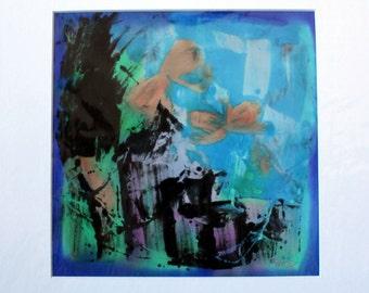 Silk painting 'Butterflies 4'