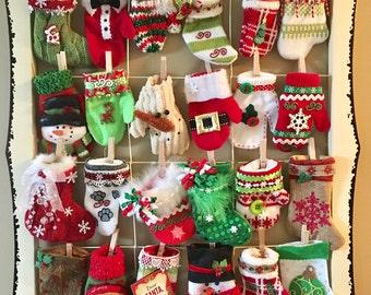 Stocking and Mitten Advent Calendar