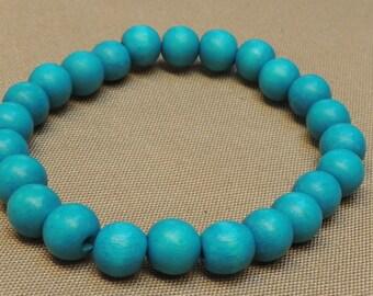 Stretchy wood bead bracelet - individual bracelet.