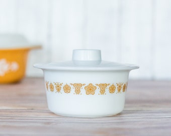 Vintage Butterfly Gold Margarine Bowl by Pyrex
