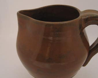 Hand Thrown Pottery Pitcher