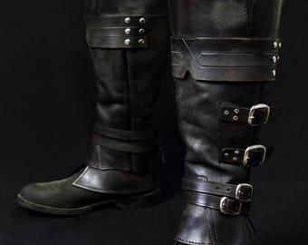 Ezio Auditore leather gaiters