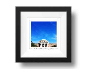 Southern Methodist University Print, SMU Photograph, Square Wall Art