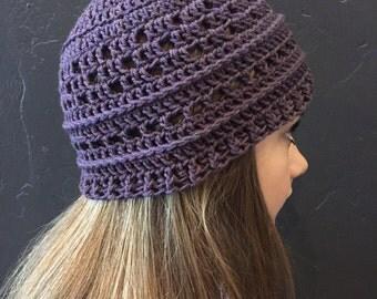 Purple blurred lines hat