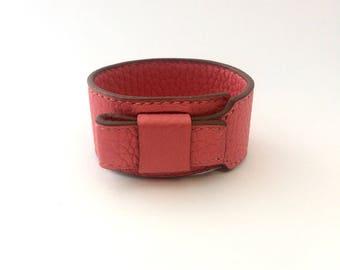 27 taurillon coral cuff bracelet cuff