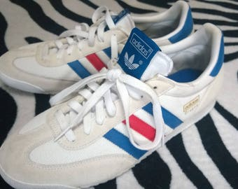 ADIDAS 'Dragon' Size US 10.5 Red, White, Blue. Limited Edition Colour