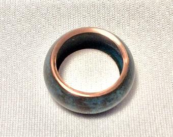 Copper ring - patina finish