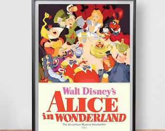 Alice in Wonderland (1951) Dix Fan Fiction - Cubist Illustration
