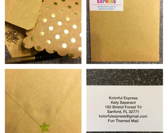 Personalized Gold Glitter Card