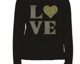 Rhinestone Love Tennis T Shirt                                          lr A26F