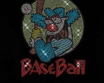 Rhinestone   Baseball Funny Lightweight T-Shirt    or  DIY Iron On Transfer                   OODO