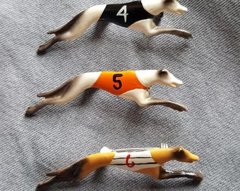 1930s Racing Greyhound Brooches