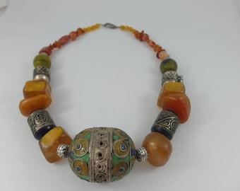 Ethnic necklace,Marocco necklace,Gypsy necklace,Tribal necklace,Hippie necklace