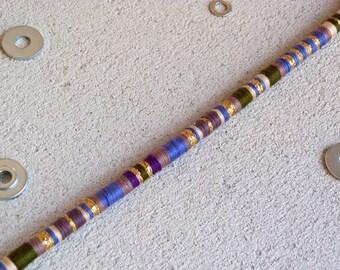 Clip in hair wrap, removable hair wrap,hair braid,hair accessory. hair extension. weft clip, beads,