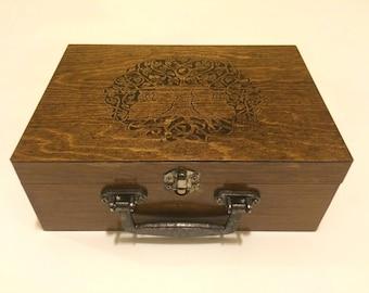 Woodburned Customizable Box