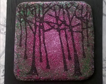 Magic woods glitter art