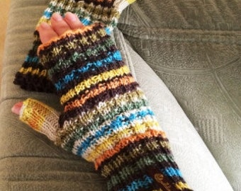 Colorful stripes arm warmers wrist warmers