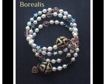 Harmonic Spring Bracelet Memory Wire Spiral Hematite