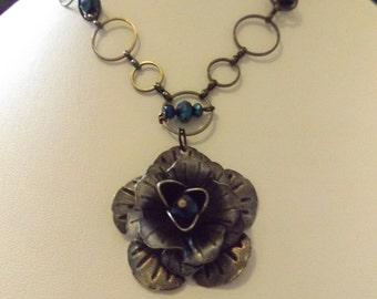 Vintage Rose Chain Necklace